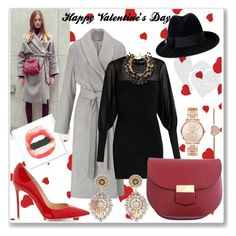 """Feb. 3 - Happy Valentine's Day"" by martinambf on Polyvore featuring moda, Miss Selfridge, Gucci, Balmain, Michael Kors, Miguel Ases e Yves Saint Laurent"