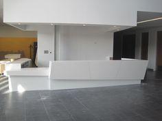 white reception desks - Google Search