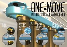 One Move Bottle Storage and Opener
