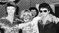 Bowie x With Marc Bolan; with Iggy Pop and Lou Reed. Velvet Underground: John Cale, Lou Reed, Nico and Warhol; The Velvet Underground, Iggy Pop, Ziggy Stardust, David Bowie, Marc Bolan, Sean Connery, Mtv, Beatles, Rock And Roll