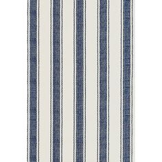 Test drive this rug in your space.Order a swatch by adding it to your cart.What could be better than an area rug in classic blue and ivory stripes? An eco-friendly, durable, and washable indoor/outdoor area rug in classic blue and white stripes! This versatile rug is right at home on the stairs, in the hallway, entryway, or other high-traffic areas throughout the home.   Blue Awning also available in  woven cotton.