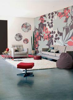 Florals Wallpaper in Home Décor