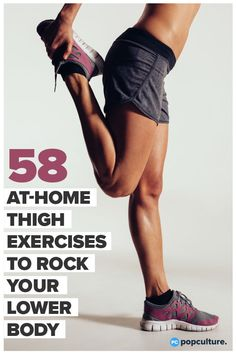 58 Game-Changing Moves That'll Transform Your Thighs. Want a tight and toned lower body? Try these moves that you can do at home to tone your glutes, thighs and calves. The perfect at-home exercises for women to tone their lower half! #thighs #glutes #calves #lowerbody #athomeworkout Fun Workouts, At Home Workouts, Fitness Tips, Health Fitness, Fitness Motivation, Thigh Exercises, Fitness Exercises, Gym, Butt Workout