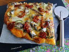 Cocinando para ellos : PIZZA CON SARDINAS EN CONSERVA