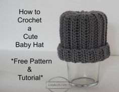 Ideal for beginners!!!! How to crochet a Baby hat with Step by Step Instructions (make this hat from a rectangle)