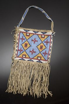 sioux bag | sioux beaded hide bag auction 2005 american indian auction mar 10 11 ...