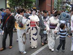 Geisha during Sanja Matsuri in a dragun kimono