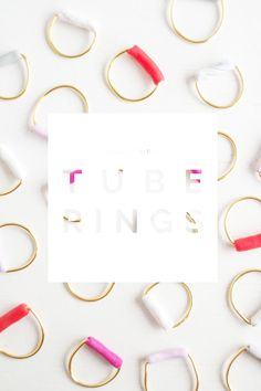 Fall For DIY Tube Rings