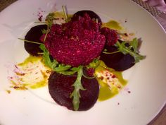 My beet + cousalto cous salad at the Mayfield bakery in Palo