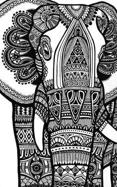 elefante trazo folck