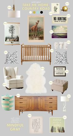 Vintage Nursery Inspiration for a New Baby from @Joni Wells Wells Wells Wells Wells Lay / Lay Baby Lay (NOT pregnant just really like all these room/decor ideas! Take out the crib and you're set for a toddler/little kid!)