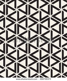 Vector seamless pattern. Modern stylish texture. Repeating geometric tiles with striped triangles.