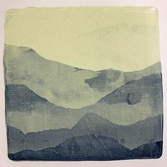 Gel Plate Printing Tip - mountain ranges Gelli Plate Printing, Printing On Fabric, Music Paper, Writing Art, Plate Art, Mountain Range, Gelatin, Ranges, Art Forms