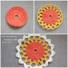 꽃들의 향연 - 꽃 모양 모티브 블랭킷 도안 , 손뜨개 커튼 만들기 [ 앵콜스뜨개실 , 벨라디아 ] : 네이버 블로그 Diy And Crafts, Crochet Earrings