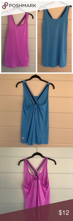 VS Sport Tank Bundle! Selling these together only! Pink has a few little pills that I tried to photograph. Fabric is perforated & super light weight. A little longer length. PayPal or Trades. Price is FIRM unless bundled. Bundles are automatically discounted through Posh! Victoria's Secret Tops Tank Tops