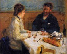 Pierre-Auguste Renoir (French [Impressionism] The Luncheon, The Barnes Foundation. Pierre Auguste Renoir, Pierre Bonnard, Manet, Georges Seurat, Claude Monet, August Renoir, Renoir Paintings, Mini Paintings, French Impressionist Painters