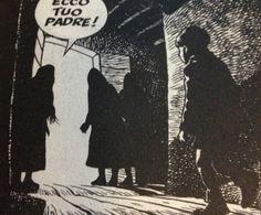 """In the scene also the parquet's direction leads the attention to what's behind the door ---------- in questa scena addirittura la direzione delle travi del parquet portano l'attenzione all'entrata della stanza ---------- Dampyr (Mauro Boselli, Maurizio Colombo & Mario """"Majo"""" Rossi) #comics #fumetto"""