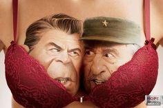 暴強內衣廣告!當政治對頭被擠進同一胸罩…… - KUSO惡搞圖 - 卡提諾論壇 -