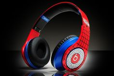 Beats By Dr Dre Studio Spiderman with White Diamond High Definition On Ear Headphones