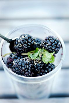 blackberries... superfood and such a great berry to bake with or eat on their own. (and my kids LOVE them)
