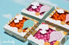 Hot Air Balloon Favor Boxes