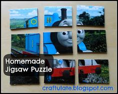 Craftulate: Homemade Jigsaw Puzzle - Thomas the Train