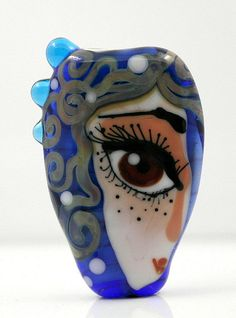 Hey, I found this really awesome Etsy listing at https://www.etsy.com/listing/239923112/big-eyes-bead-lampwork-focal-glass-face