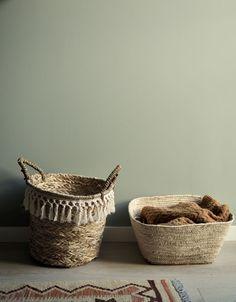 Grønt og skjønt barnerom - LADY Inspirasjonsblogg Jotun Lady, Green Painted Walls, Modern Kitchen Design, Kids Furniture, Stuff To Do, Basket, Colours, Home Decor, Ad Home