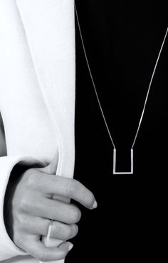 The Boyscouts | Parallel Circuit collection, 2014-15 | Contour Square necklace + Aeon Square Ring