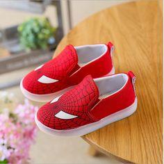 2c95f10ee Niños Zapatos Con Muchachos Luz Led Iluminado Zapatillas de Deporte Nueva  Primavera Spider-Man Batman