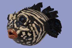 Keramische vis gemaakt in 2012. Geïnspireerd op het onderwaterleven.