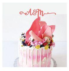 A&M custom squiggly Wedding Cake Topper,Lyrics,I love you like, I love you like a fat kid loves cake,wedding cake topper,custom cake topper by CommunicakeIt on Etsy