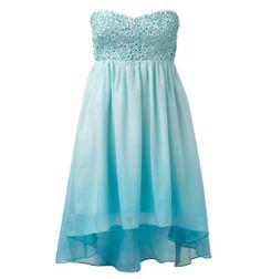 Chloe Flower Applique Draped Dress - Forever New Maxi Bridesmaid Dresses, Prom Dresses Blue, Pretty Dresses, Strapless Dress Formal, Beautiful Dresses, Short Dresses, Formal Dresses, Bridesmaids, Forever New Dress