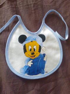 Mickey Pintura em tecido Pintado à mão  Peint à la main