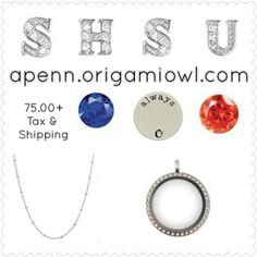 "Sam Houston State University (SHSU) BearKats Inspired ""School Spirit"" Origami Owl Necklace.   Love It?   Order it here: apenn.origamiowl.com"