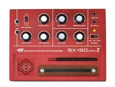 Gakken SX-150 MARK II Analog Synthesizer by CHUGAN Corporation. $56.48. This very real mini synthesizer is built for awesome gigantic sound!. This little device is packed with functions!. All the effects of a professional synthesizer all rolled into one small analog synthesizer!. Shipped directly from Japan. There's not much music you can't make with this machine!. Size: W16.5xH4.4xD12.6 cm/ Manual (Japanese Only)/ Output: (3.5mm mono mini)/ Line In: (3.5mm mono mini)/...