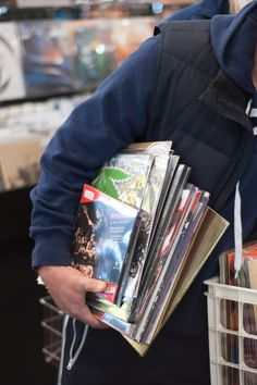 Shopping for records at Omega Music in Dayton, Ohio.   photo credit: Aaron Paschal