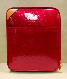 Louis Vuitton Red Monogram Vernis Pegase 45 Rolling Luggage w/ LOCK $1199.99