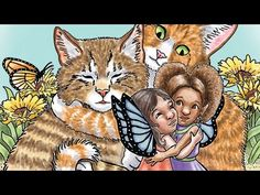 Coloring Book Flip Through Fairy Kids and Kittens Adult Coloring, Coloring Books, Fairy Paintings, Tigger, Fairies, Disney Characters, Fictional Characters, Kittens, Folk