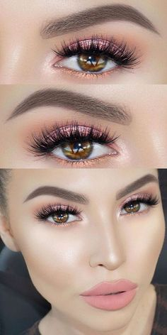 Imagem de makeup, eyes, and pink