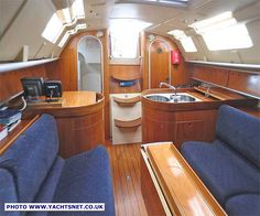 Sailboat with Philippe Starck interior view 2
