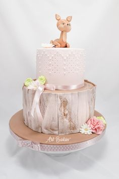 CakesDecor Gazette - fresh baked news from the world of cake decorating. Monthly eMagazine full of cake decorating tips, ideas and inspirations. Baby Cakes, Girl Cakes, Baby Shower Cakes, Cupcake Cakes, Beautiful Cakes, Amazing Cakes, Deer Cakes, Woodland Cake, Birthday Cake Girls