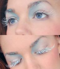 frosty costume makeup could double as mermaid?Rate this post frosty costume makeup could double as mermaid? frosty costume makeup could double as mermaid? Ice Makeup, Ice Queen Makeup, Snow Makeup, Party Makeup, Frozen Makeup, Makeup Art, Makeup Ideas, Looks Halloween, Halloween Makeup