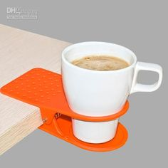 Late night cram session? Clip your caffeine to your desk.