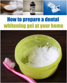 How to prepare a dental whitening gel at your home