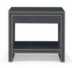 Bernhardt Weston Nightstand W31 D only 18.5 and ht too high at 28in? Grey or natural - color of nailheads for each?