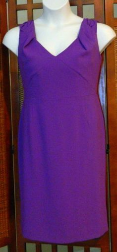 1 watcher! #SALE! OVER #50% OFF & #Freeshipping BID NOW BEFORE IT'S TOO LATE!  NEW from #NEIMAN #MARCUS #Elie #Tahari #Meredith Wild Grape #Purple V-Neck Crepe #Dress #16  RETAIL $348 NOW $149.99 #ebay  Baby Boomer #DEAL #auction #shopping  #bridesmaid #motherofbride #wedding #womenover50 #womenover40 #graduation #cocktail #party #evening