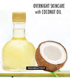 For an effective night-time face clean up use coconut oil, to get rid of any dirt, impurities and stubborn makeup. It sinks deep into the skin to condition, moisturize, and soften your skin. Coconut oil naturally clears dirt, grime, and dead skin cells. It even contains antibacterial and antifungal properties, killing off harmful bacteria for
