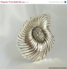 HUGE SALE Vintage Brooch Tortolani Abstract  Silver by Ladysfancys, $32.00