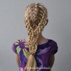 Three 5-strand braids, so does it make it a 15-strand? By Jenni's Hairdays
